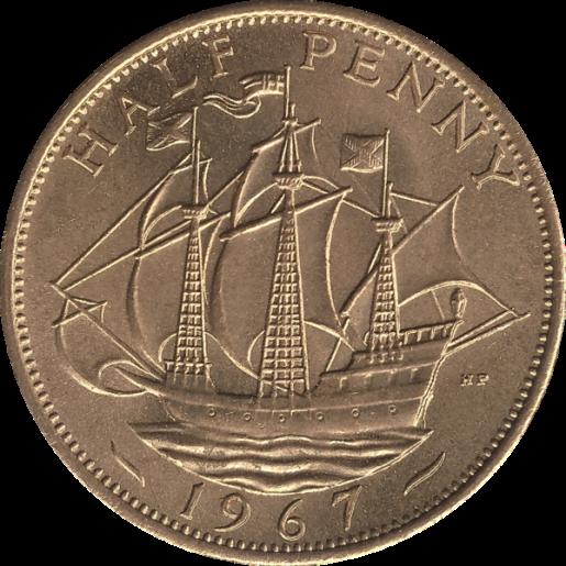 british_pre-decimal_halfpenny_1967_reverse